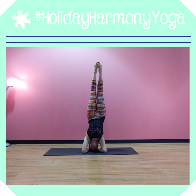 holidayharmonyyoga day 20 supported headstand