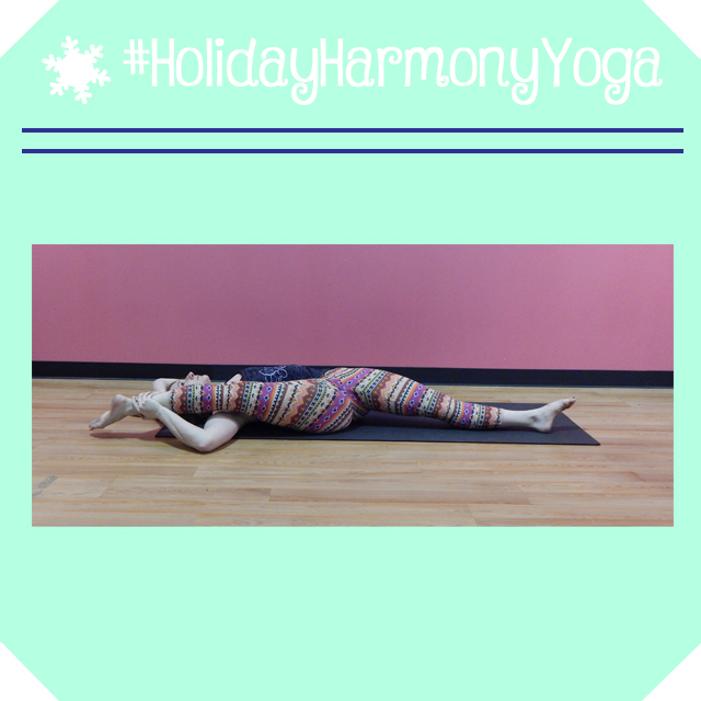 holidayharmonyyoga day 8 lying splits