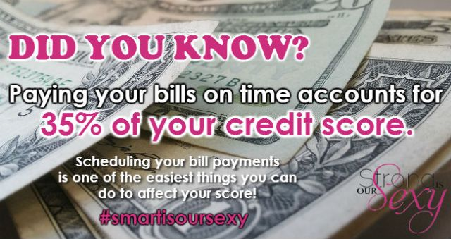 Did you know paying your bills on time accounts for 35 percent of your fico credit score?