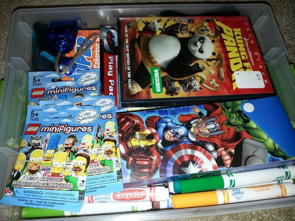 Road trip survival kit for kids!