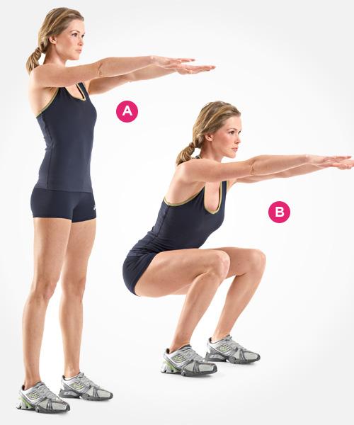 Squat exercise, Courtesy of Women's Health Magazine