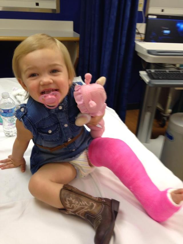 Michaela with her cast