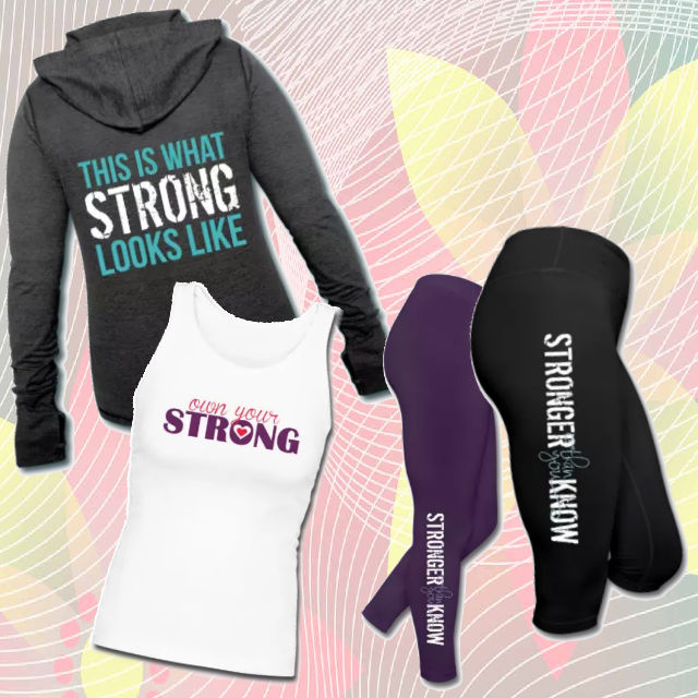Hoodies, tanks, and leggings now available from Own Your Strong!